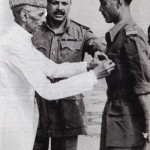 Quaid-i-Azam Muhammad Ali Jinnah with Ayub Khan ex president pakistan and field marshal  the one in the center