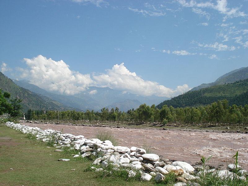 Balakot River Kunhar like snake