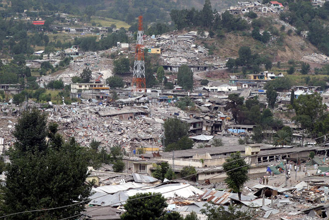 Balakot pakistan after the earth quake in 2005