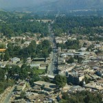 Hazara - Abbotabad city with its roads houses mountains and greenry