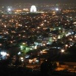 Mazar-e-Quaid - Muhammad Ali Jinnah Karachi Pakistan- a bird view in night