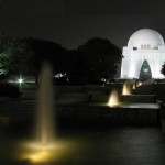 Mazar-i-Quaid - Muhammad Ali Jinnah Karachi in night with fountains