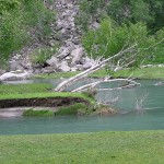 Swat Valley - Kalam in summer with river swat and its pure water