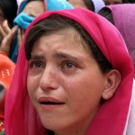 Attabad Lake Hunza - Girl Cries in protest against Government