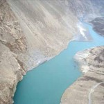 Attabad Lake in Hunza - a bird view