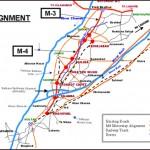 Map of Faisalabad Multan Motorway