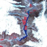 Attabad Hunza Lake - Sattelite image by NASA on May 25 2010