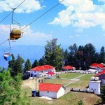 Ayubia - chair lift and huts bellow