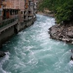 Bahrain Swat Valley - another view of River with fastest moving water