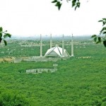 Faisal Masjid Islamabad - a green view with the surrounding of forests