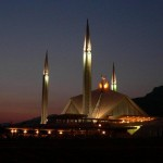 Faisal Mosque Islamanad with night view