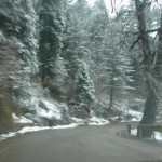 Murree - Murree road with snow on roads sides
