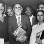 Parveen Shakir with Ahmad Nadeem Qasmi - a famous poet