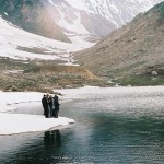Astore Valley - Rama Lake with snow and glaciers with water - what a cool