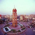Faisalabad - ClockTower or Ghanta Ghar with eight Bazars