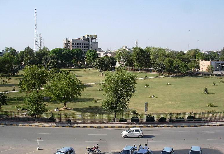 Faisalabad another view of D Ground with round about