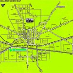 Faisalabad city Guide Map with its streets and roads