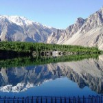 Gojal Valley - Water in Lake and Snow Covered Hills in Gilgit baltistan