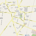 Jhang Sadar Map - roads streets and important places