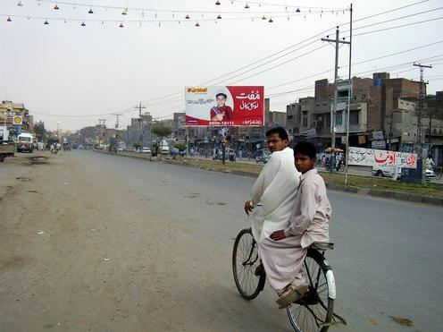 Jhang - a beautiful view of jhang city famous road