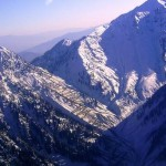 Lowari Top Chitral - a bird view of snow covered hills