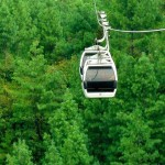 Patriata New Murree - Cable Car over a lush green forests