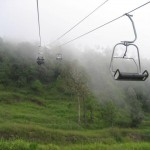 Patriata New Murree - a chair lift view with rainy weather