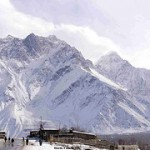 Skardu - Peaks of Mountains covered with snow