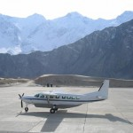 Skardu - a plane in the winter and snow in chilled weather