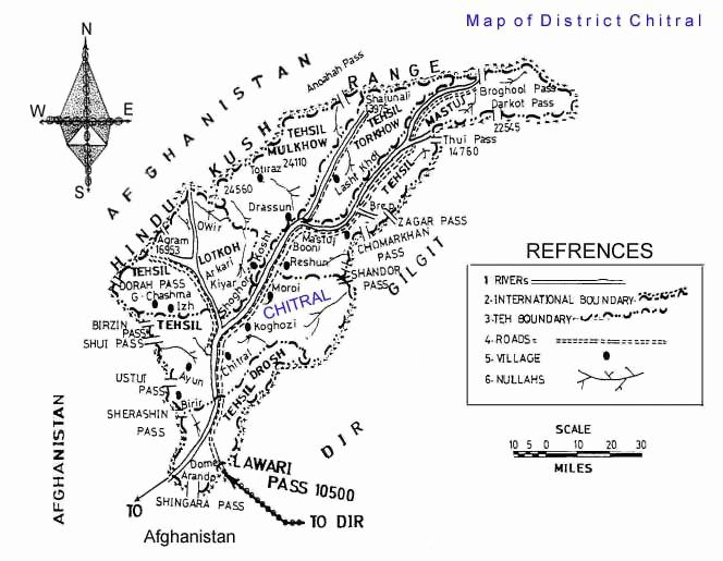 chitral – map of Chitral District