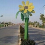 A road view in Rahim Yar Khan near a park 2