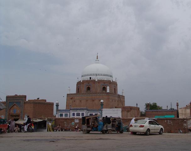 Bahauddin Zakaria shrine or Tomb in Multan - outside view