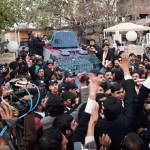Mailk Mumtaz Hussain killer of Salman Taseer ex governor punjab while going to court with rousing welcome by people