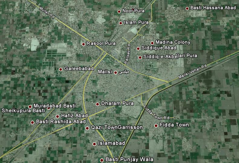 Mailsi Satellite Map Or View Of Mailsi City - Live satellite map view of my house