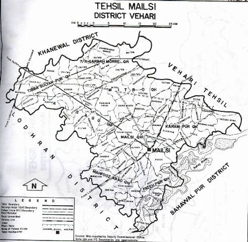 Map of Tehsil Mailsi