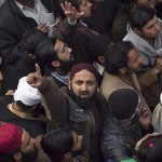 People Gathers out side Mumtaz Hussain Qadri in Rawalpindi after release of his father Malik Muhammad Bashir on Friday 7 january 2011 6