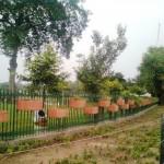 out side fence of Jillani park (Racecourse Park) Lahore