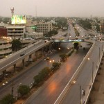 Another attractive view of Shahrah e Faisal Karachi