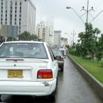 Karachi Shahrah e Faisal - Cars going on