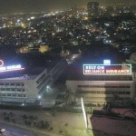 Karachi Shahrah e Faisal night view with lights