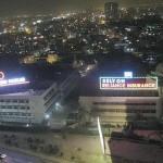 Karachi Shahrah e Faisal night view with lights