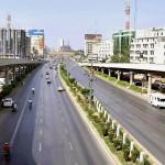 Karachi Shahrah e Faisal on a strike call
