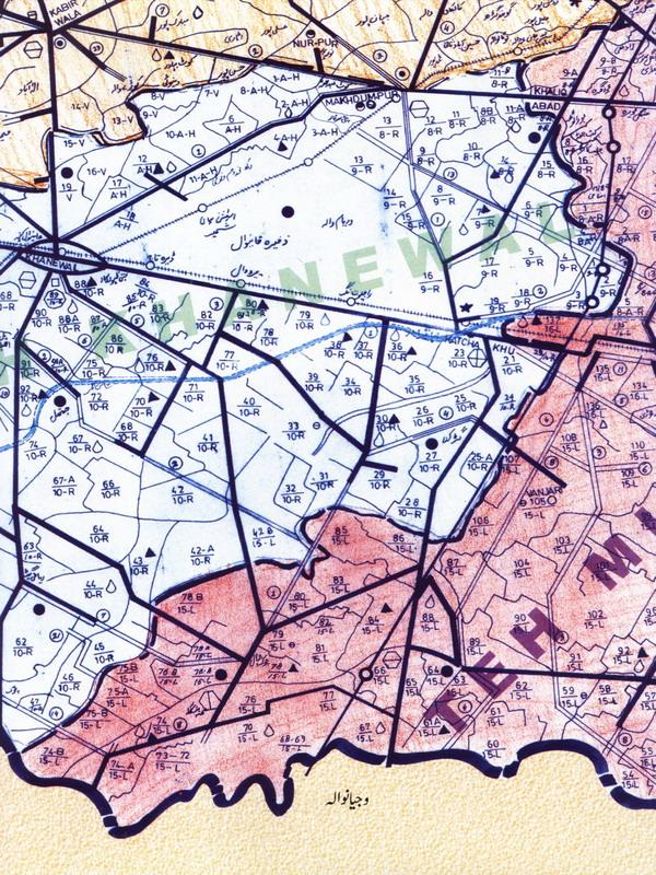 Khanewal Tehsil Detail Map