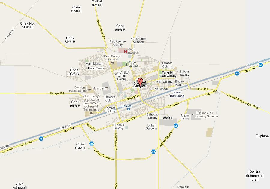 Sahiwal – City Map and its villages – Paki Mag