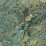Satellite map view of Shahrah e Faisal Karachi