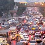 Shahrah i Faisal Karachi with traffic Jam
