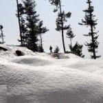Shangla Swat valley - Pakistani Army soldier walks on snow covered hills2