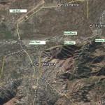 Mingora swat Satellite map Swat Mingora, Kanju Airport, ImamDherai, Fiza Ghat Landaki