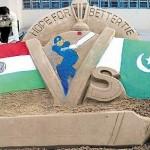 Mohali Semi Final Match Statue (Pakistan Vs India)