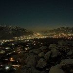 Abbottabad City Pakistan Night View from Sarban Hills